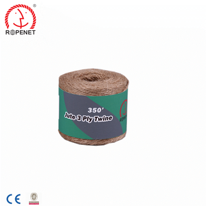natural twisted type jute twine/jute fiber material twine rope