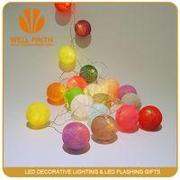 3V/4.5V/24V/110V/220V/Battery and Christmas Holiday Name Soft LED Cotton Ball String Light