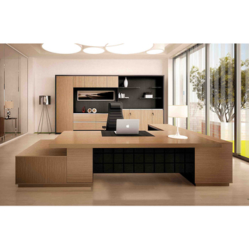 Lasted Luxury Ceo Boss Executive Large Modern Wooden Office Table Design In Furniture