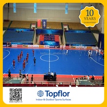Topflor Portable indoor futsal court pvc sports flooring futsal pvc flooring prices