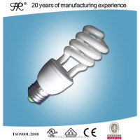 Half spiral edison E27 energy saving light bulb