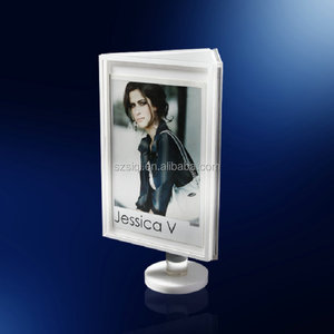 Promotion Rotating Clear Acrylic Cube Block Mini Frame for Pictures Images Photos