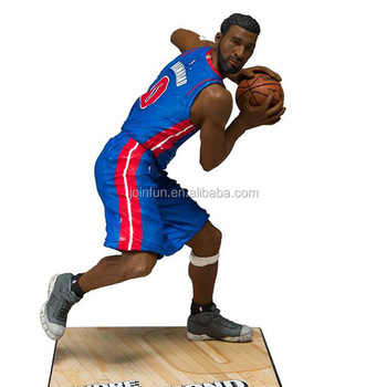 Custom 3D Sports star Plastic soccer player action figure toy factory for promotion