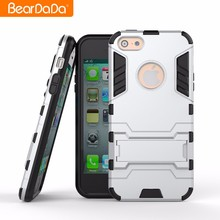 Hot sell tpu pc kickstand customize hybrid bumper phone case back cover for iphone 5s,for iphone 5,for iphone 5c