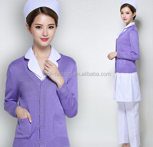 best-selling hospital staff uniforms nurse side pockets cardigan uniforms