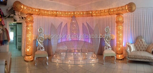 Royal Crown Half Moon Wedding Stage Crystal Mandaps for Event Supplies