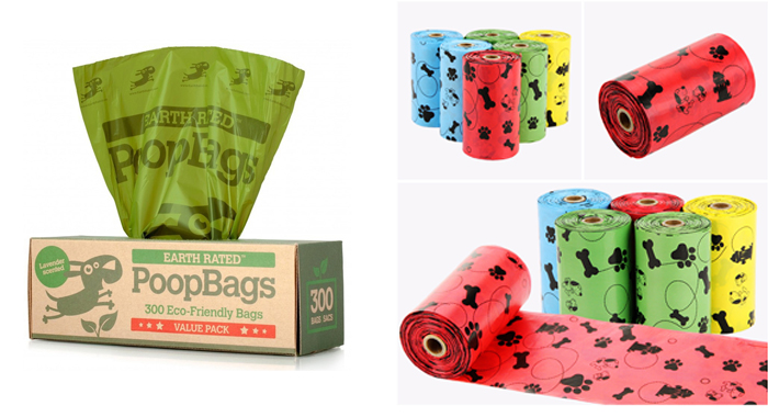 Al por mayor de plástico biodegradable Hdpe perro Poo bolsas fabricadas en China