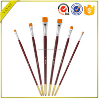 Wholesale Price Nylon Bristle Acrylic Paint Brushes Cheap for Acrylic Painting