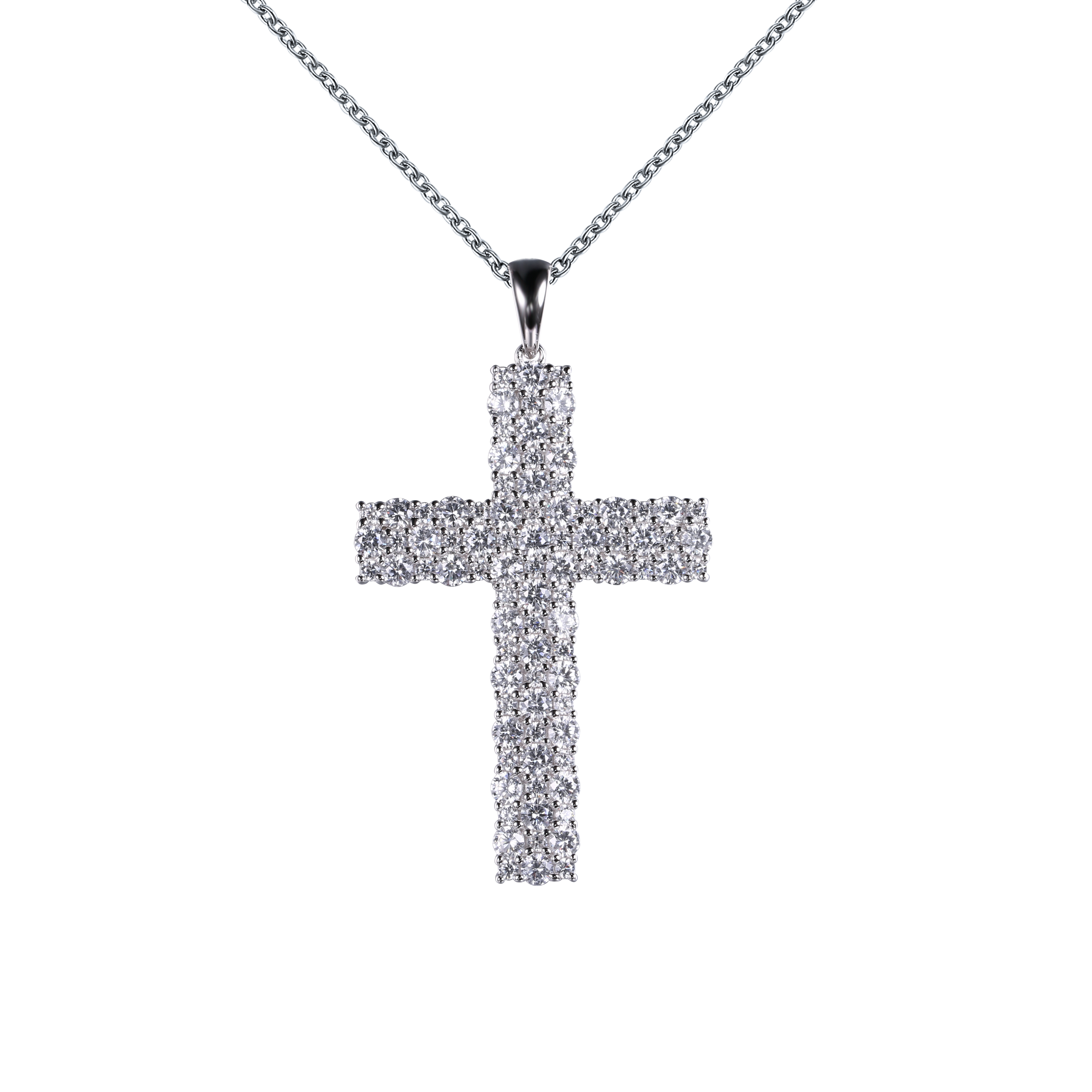 Mens Bling CZ Tennis Catholic Cross Crystal Jesus Pendant Hip Hop Multi Color Silver Gold Black Rose Gold
