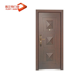 construction steel wooden glass armored door with CE