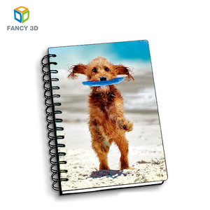 Zebulun Trending Products Recycled Paper 3D Dog Pattern Private Label Planner Notebook