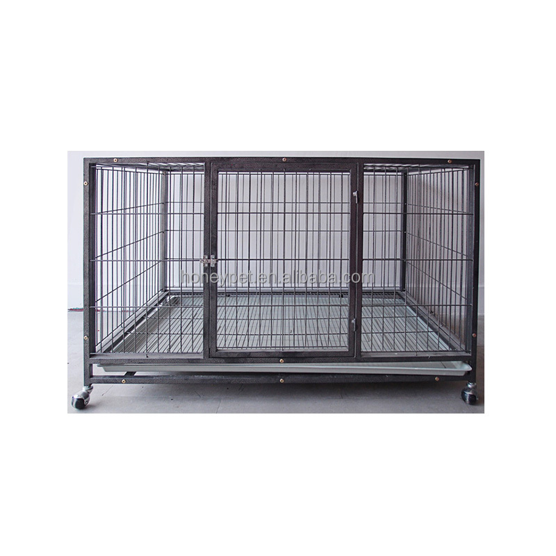 Top quality Square tube modular commercial dog cage trolley with 4 wheels