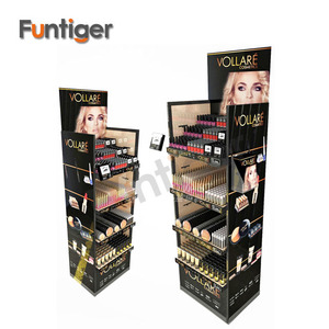 Custom Cardboard Combined Cosmetic Display Shelf , Cardboard Display Case For Make Up, Cosmetics Display Stand