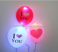 I Love You Latex LED Flashing Balloon Light High Quality Lighted Balloon
