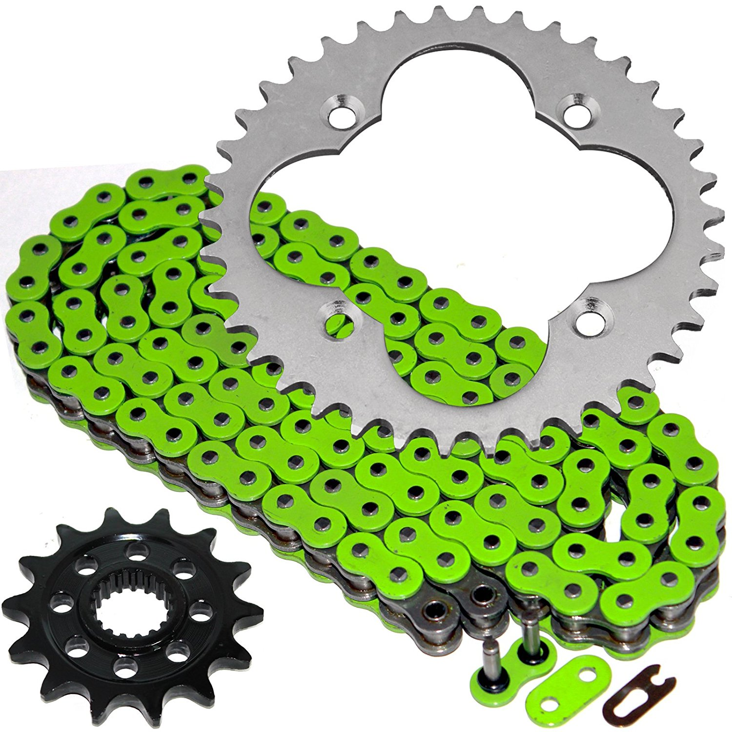 Heavy Duty Green for 2007-2008 Yamaha YFZ450 SE Special Volar Chain and Sprocket Kit