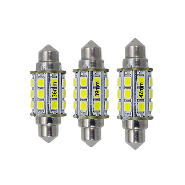 Festoon LED <strong>Bulb</strong> 10-30V <strong>12V</strong> 24V <strong>3W</strong> for Marine Auto Use 36mm 39mm 42mm