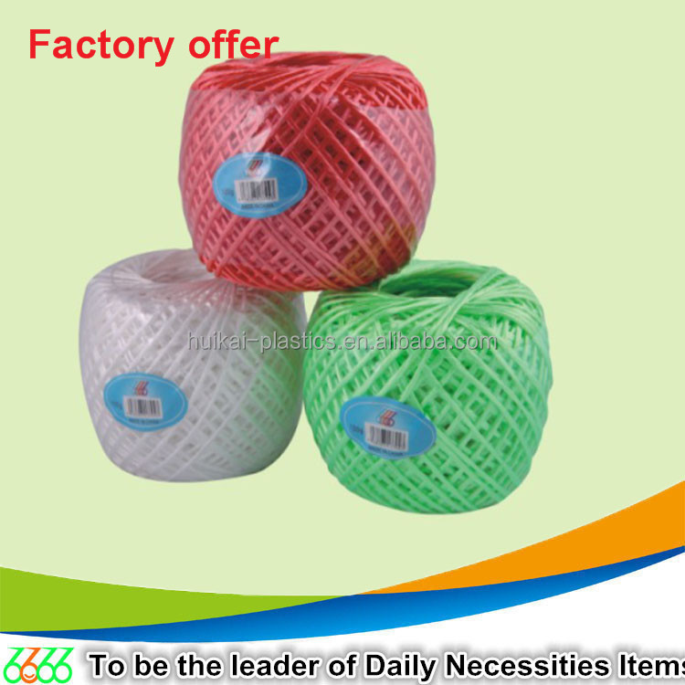 New arrival colorful 50g,80g, 100g, 200g pp twine PE virgin material rope braided rope