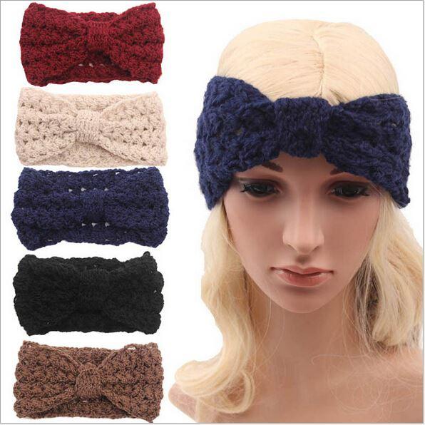 adult winter fleece crochet knit headbands braided headband wool scrunchy  elastic headbands head hair band accessories for women 1bd142b4e21