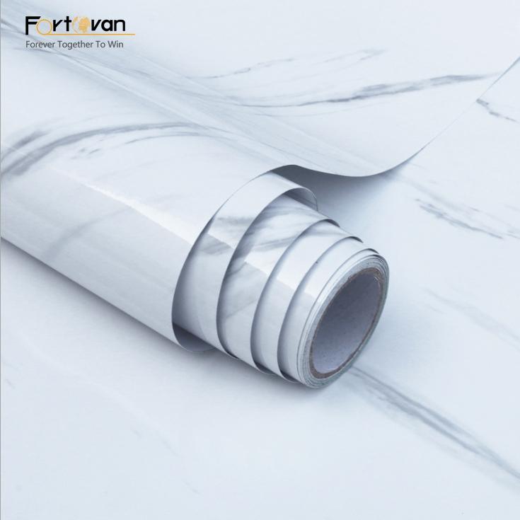 Marbre blanc design décor à la maison papier peint