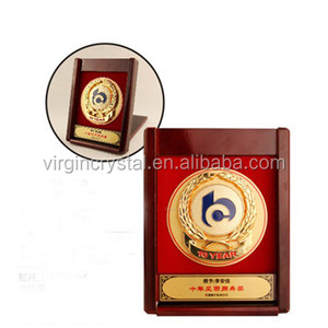 Red wood plaque wood trophy and awards wood box plaque