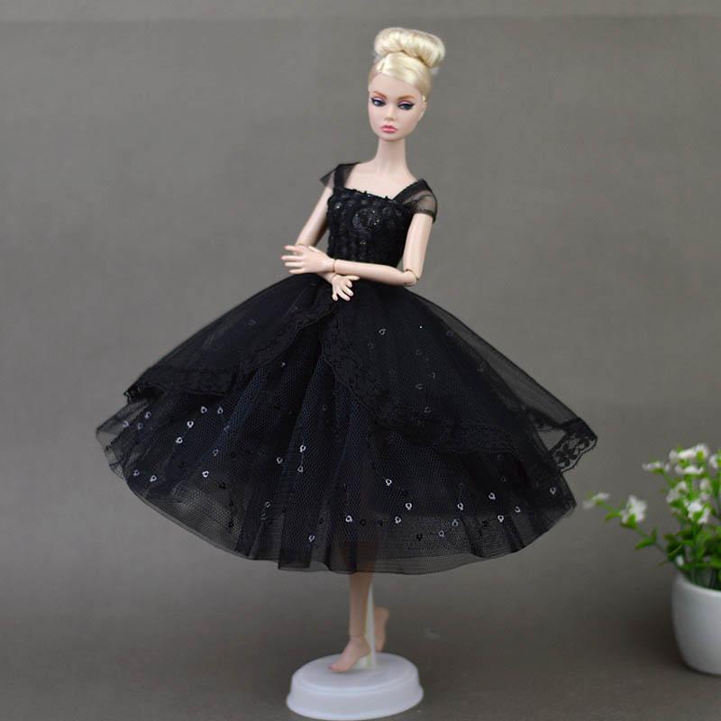 Vestidos De Muñeca Elegante Lady Negro Pequeño Vestido De Noche Ropa Para Muñecas Barbie Para 16 Bjd Muñeca Regalo Accesorios De Muñeca