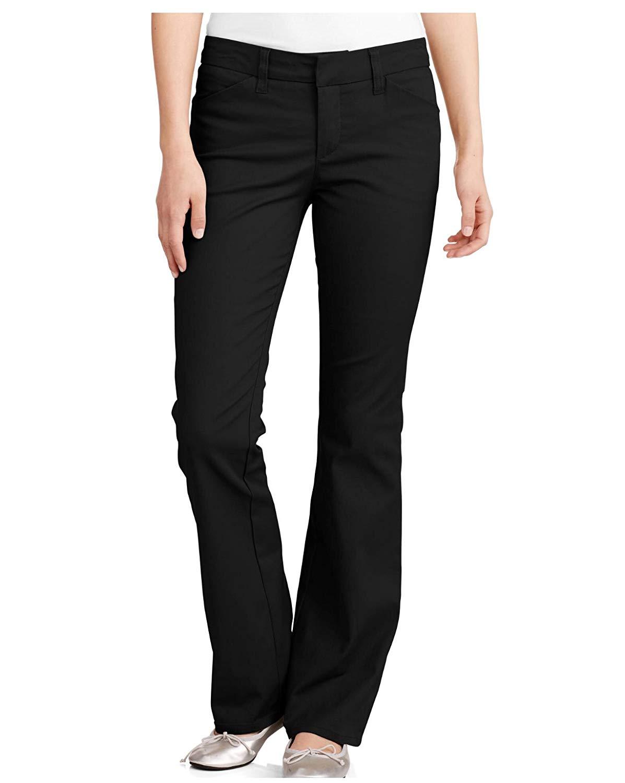 84694b4369f7e Get Quotations · Dickies Junior s School Uniform 4 Pockets Slim Bootcut Pant