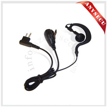 EG-ZX-M Walkie Talkie M plug PTT D-ring Ear Loop Earpiece