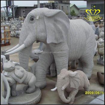 Wholesale Chinese Garden Marble Granite Stone Animal Elephant Statues