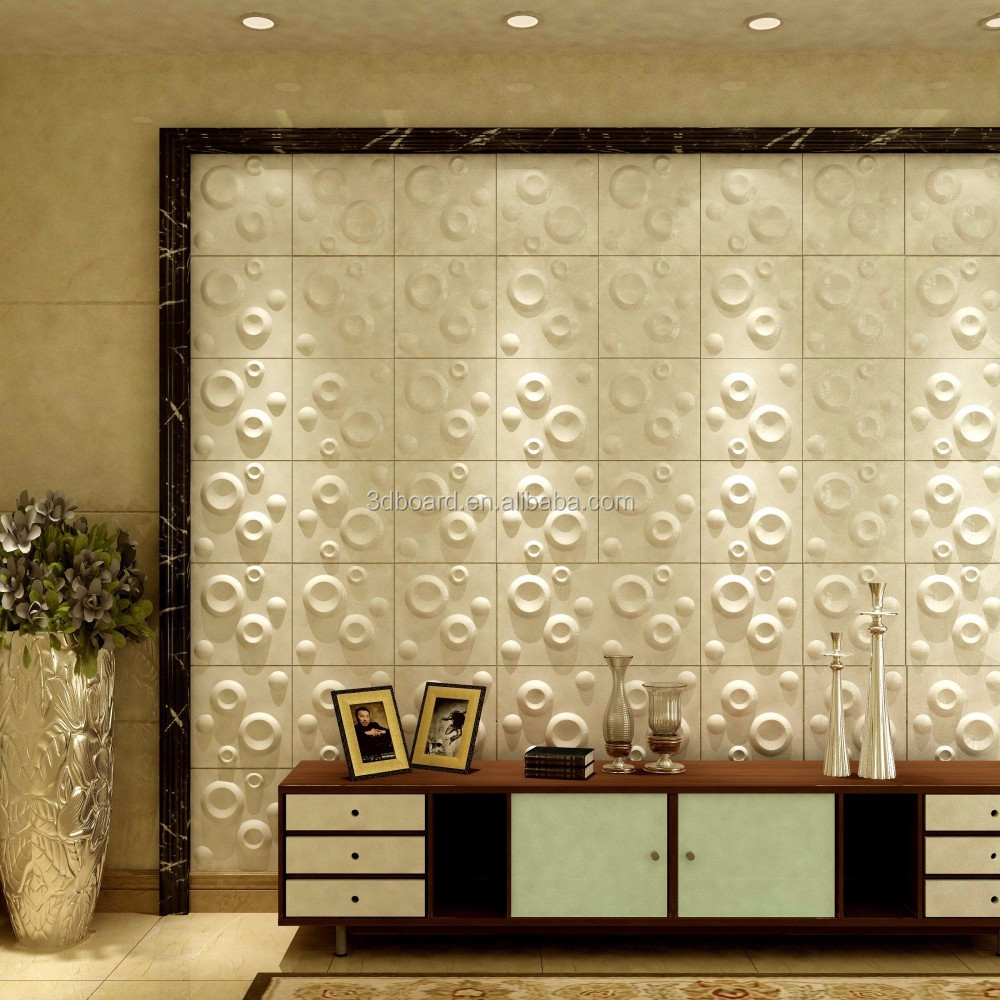 Fibra de bamb panel de pared 3d 3d wallpaper murales de - Paneles 3d para pared ...