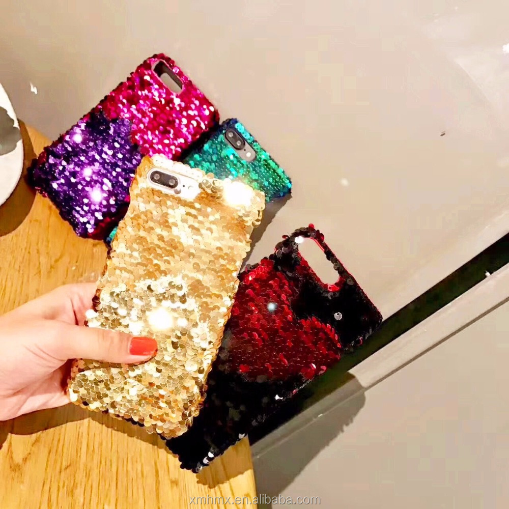 Customized Color Changing Sequin Bag Mobile Cell Phone Case <strong>Cover</strong>