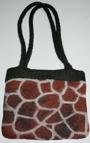 Hand crafted wool felt bags