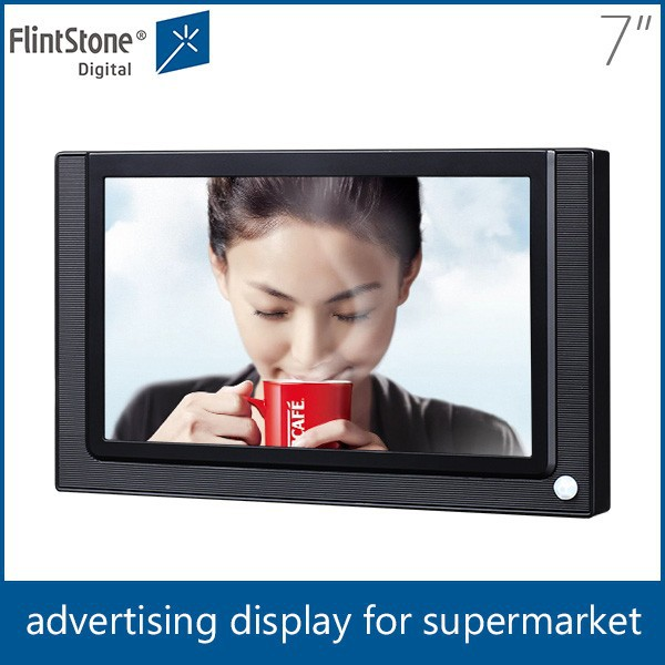 "flintstone 7"" lcd usb flash drive tv player digital mp4 player 7 inch lcd digital display board"
