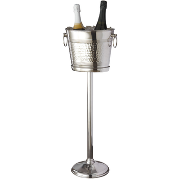 Metal Stainless Steel Hotel Champagne Bucket Stand Decoration For Ice