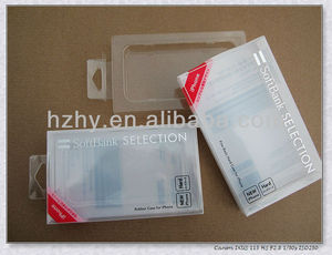 Printed Plastic Box For Iphone4 Case Packaging