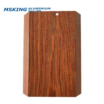 Good source of materials wood color kitchen aluminum door profile