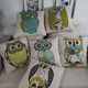 Fashion printed pillows cover home decorative lumbar support owl cushions
