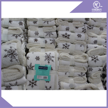 Wholesale Super Popular Soft fleece Blanket ,Rolled up Travel Blanket with Handle Made in China