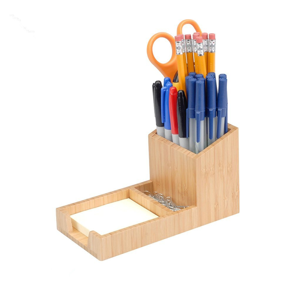 high quality bamboo pencil holder using pen holder office or home 5