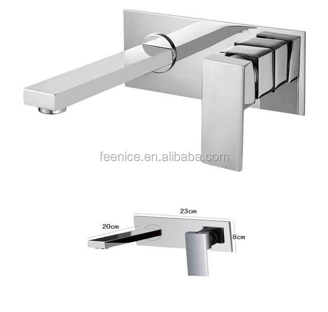 high level concealed wall embedded basin mixer