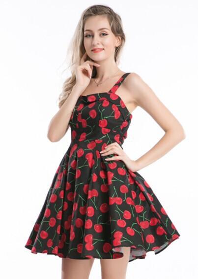 Buy walson R1138 cherry rockabilly dress Retro 50s style plus size ...