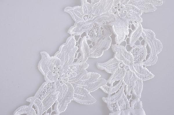 Платье трапециевидный кружево шифон Mini без рукавов лето, женщины с низким вырезом на спине белый цветок плечо платья WQ0705