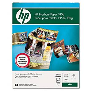 HP : Inkjet Brochure Paper, Letter, Bright White, 150 Sheets per Pack -:- Sold as 2 Packs of - 150 - / - Total of 300 Each
