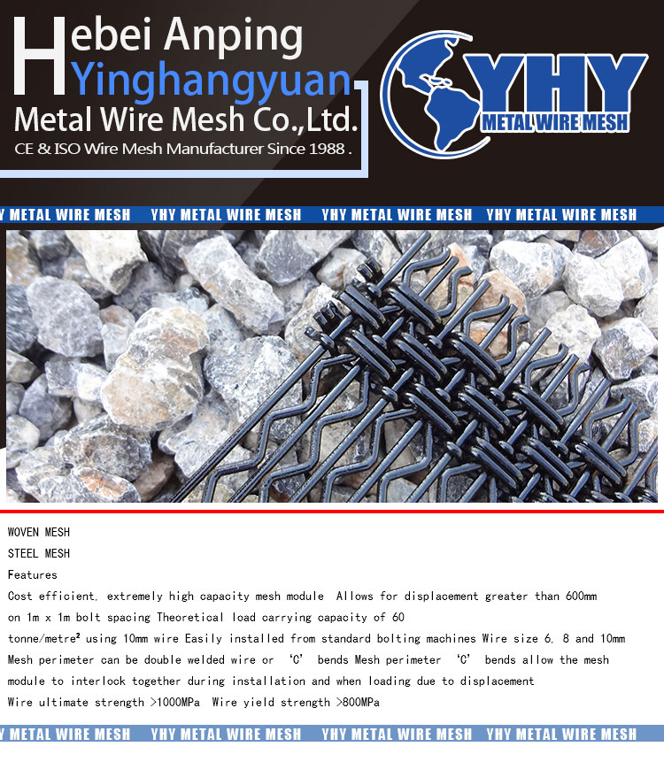 New Steel Pre-crimped Wire Mesh for Stone Crusher and Mining