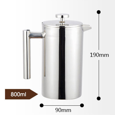 Френч-пресс для приготовления кофе лучший заварочный чайник с двойными стенками из нержавеющей стали, изолированный кофейник, дающий один ...(Китай)