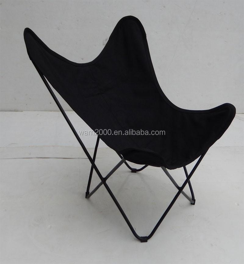 vlinder stoel met canvas zitting metalen stoelen product