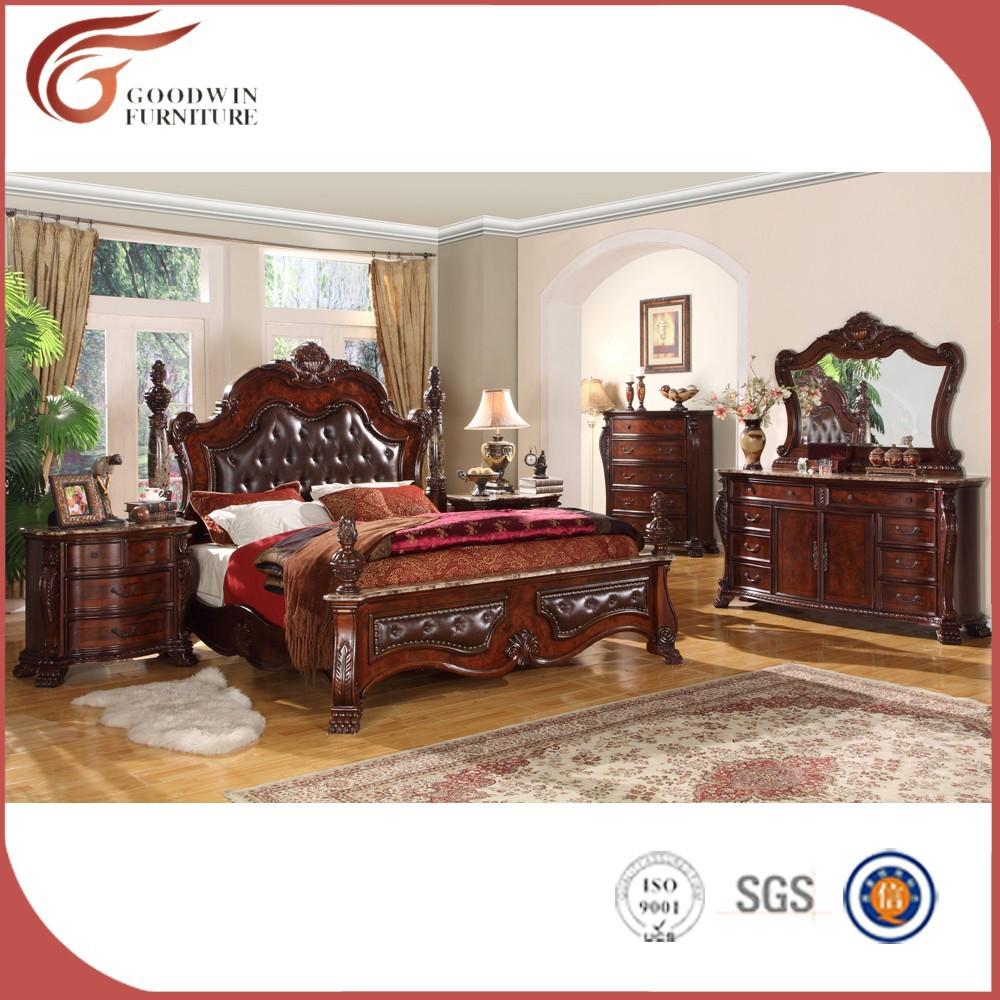 Cama king size muebles de dormitorio juego de cama con precio WA137 ...