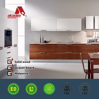 aluminium kitchen cabinet and decorative knobs