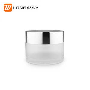 20g 1oz cosmetic cream frosted glass jar with lid