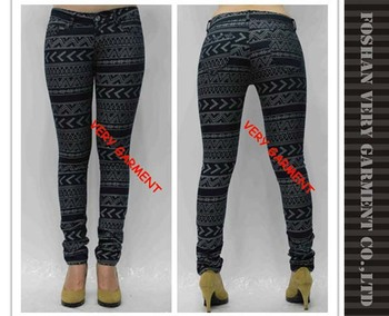 Skinny Jeans For Girls In Jacquard Denim Fabric Tight Jeans Denim ...