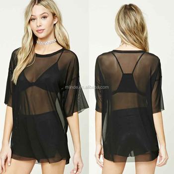 Womens Fashion Tops 2018 New Arrivals Nylon Spandex Short Sleeve Round Neck  Sheer Mesh Sexy See 8bfbc6b280